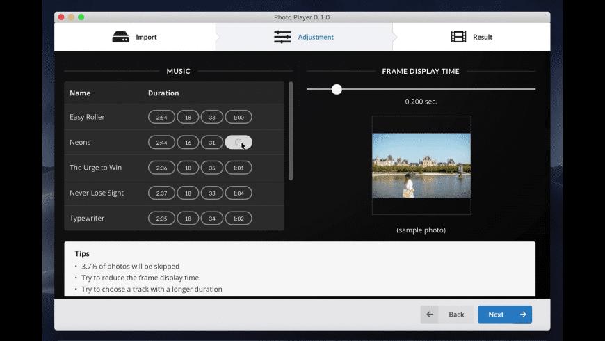 Photo Player for Mac - review, screenshots