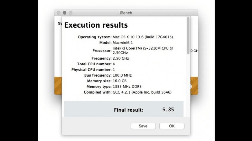 iBench for Mac - review, screenshots