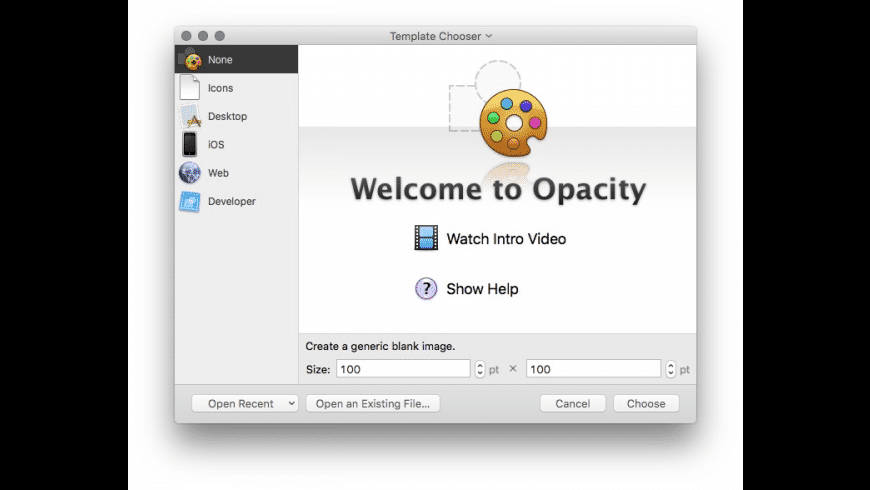 Opacity for Mac - review, screenshots