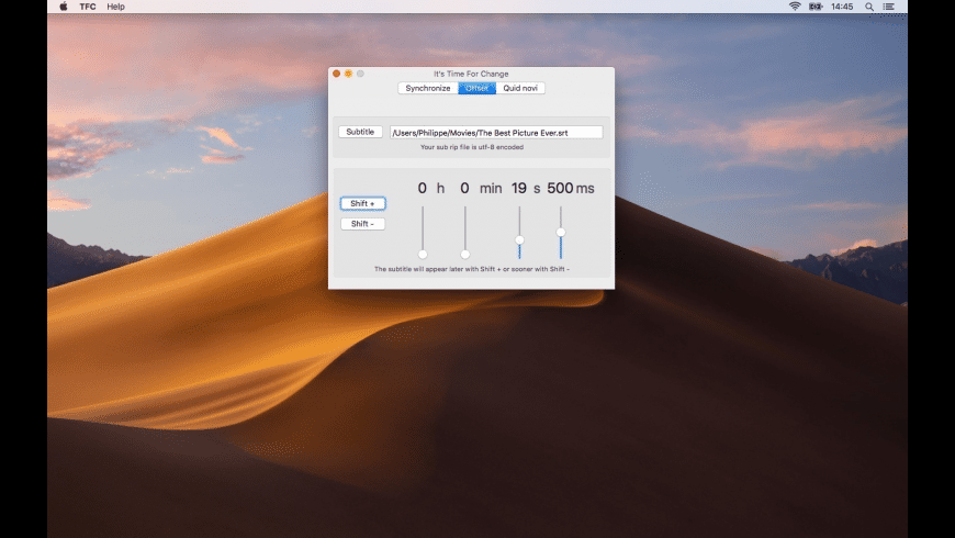 Time For Change for Mac - review, screenshots