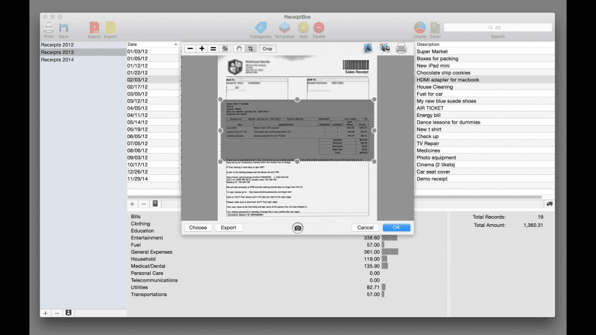 ReceiptBox for Mac - review, screenshots