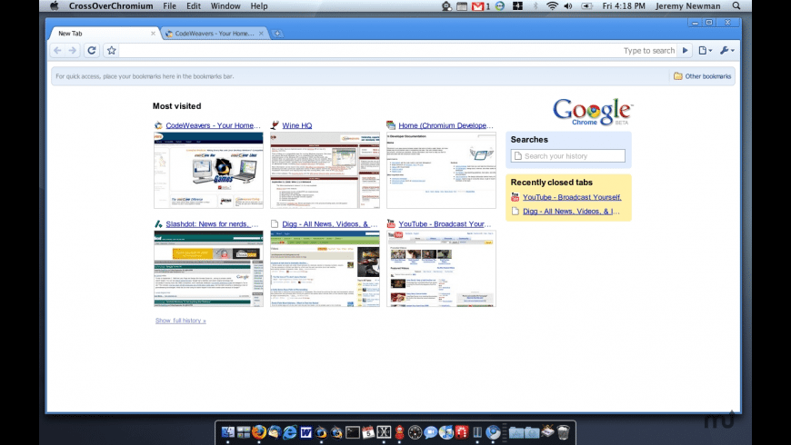 CrossOver Chromium for Mac - review, screenshots