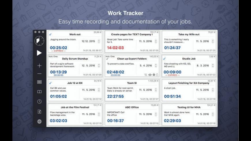 Work Tracker for Mac - review, screenshots