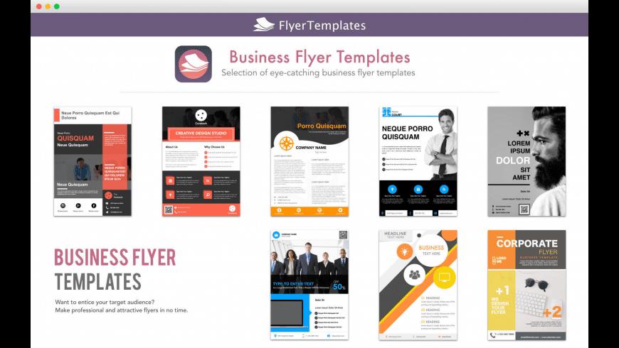 Flyer Templates & Design for Mac - review, screenshots