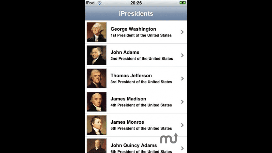iPresidents for Mac - review, screenshots