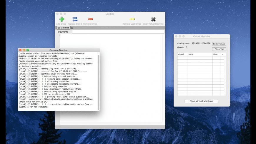 ChucK/miniAudicle for Mac - review, screenshots