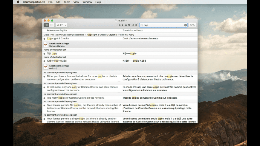 Counterparts Lite for Mac - review, screenshots