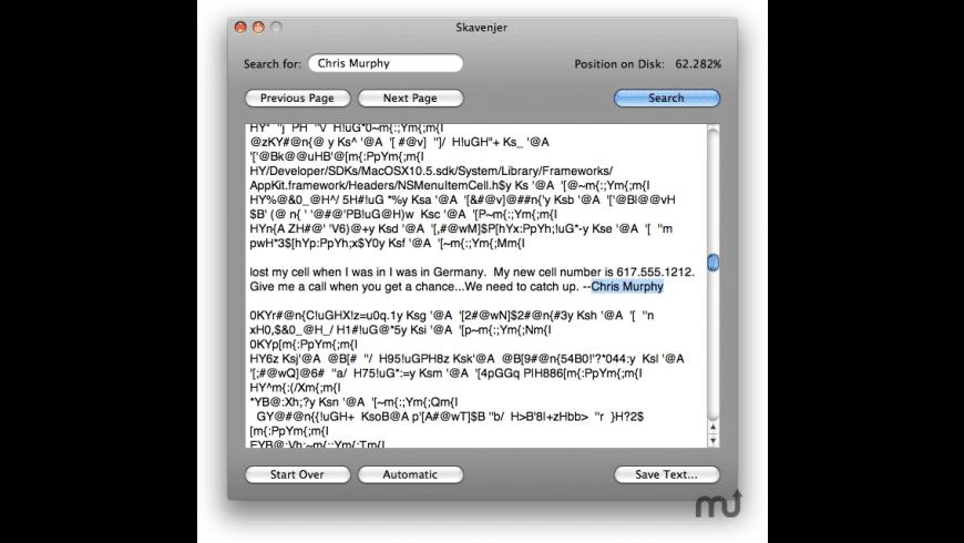 Skavenjer for Mac - review, screenshots