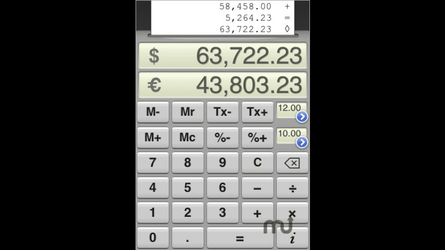 TopCalculette Pro for Mac - review, screenshots