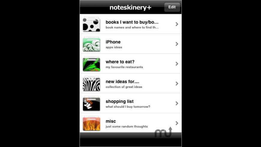 Noteskinery+ for Mac - review, screenshots