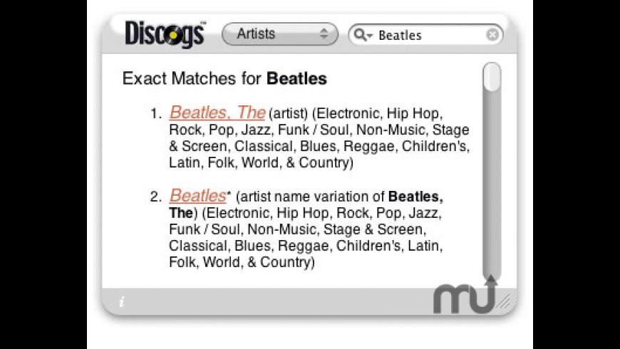 Another Discogs Widget for Mac - review, screenshots