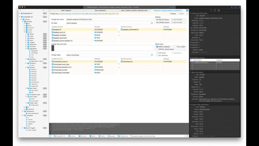SEQUEL for PostgreSQL for Mac - review, screenshots