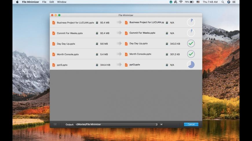File Minimizer for Mac - review, screenshots