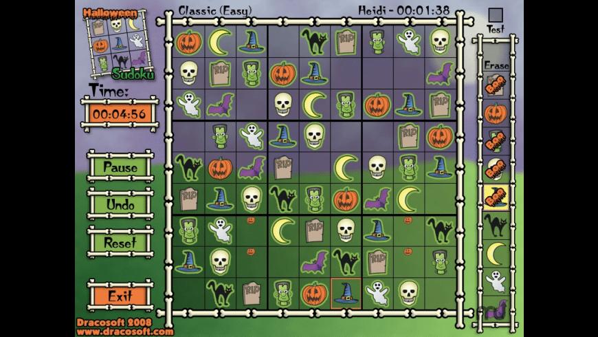 Halloween Sudoku for Mac - review, screenshots