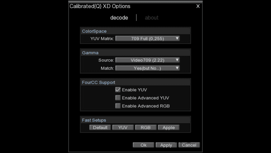 Calibrated{Q} XD Decode for Mac - review, screenshots