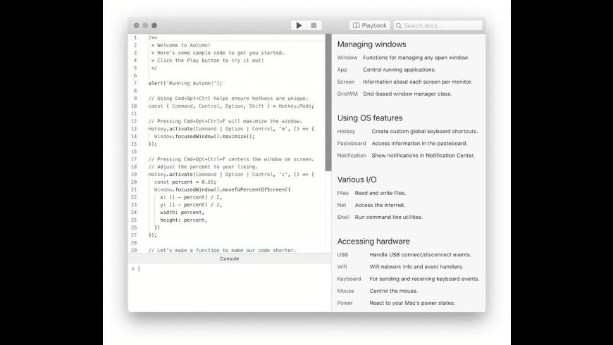 Autumn for Mac - review, screenshots
