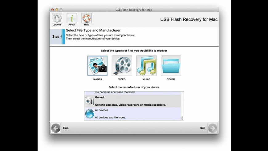 USB Flash Recovery for Mac - review, screenshots
