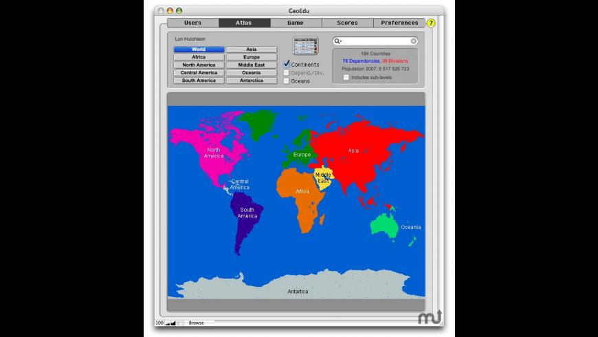 GeoEdu for Mac - review, screenshots