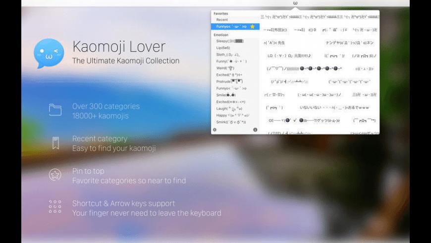 Kaomoji Lover for Mac - review, screenshots