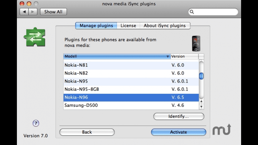 iSync plugins for Mac - review, screenshots