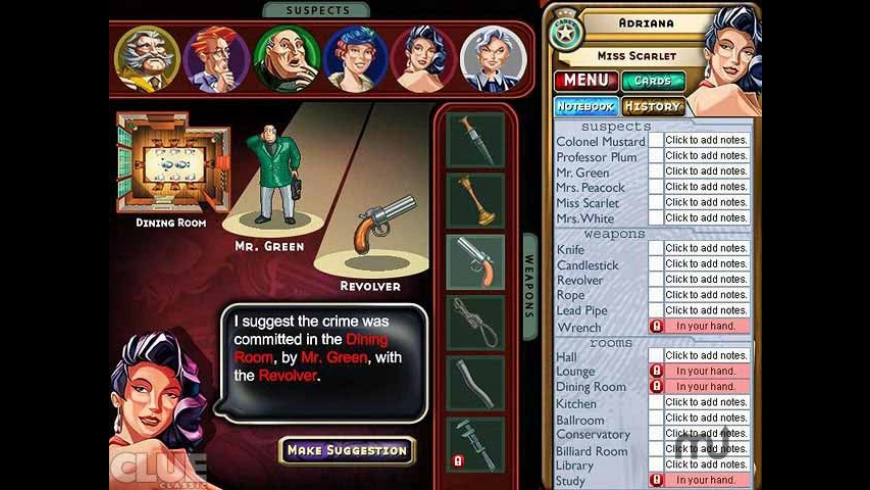 Clue Classic for Mac - review, screenshots
