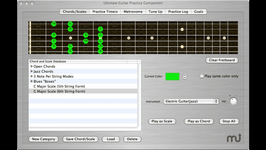 The Ultimate Guitar Practice Companion for Mac - review, screenshots