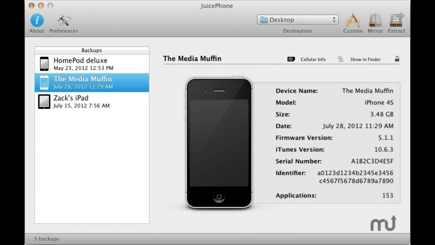 JuicePhone for Mac - review, screenshots