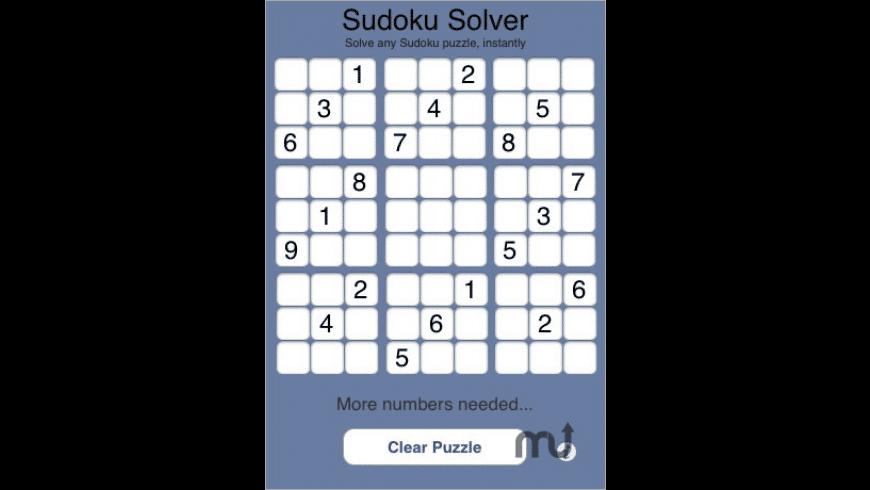 Sudoku Solver for Mac - review, screenshots