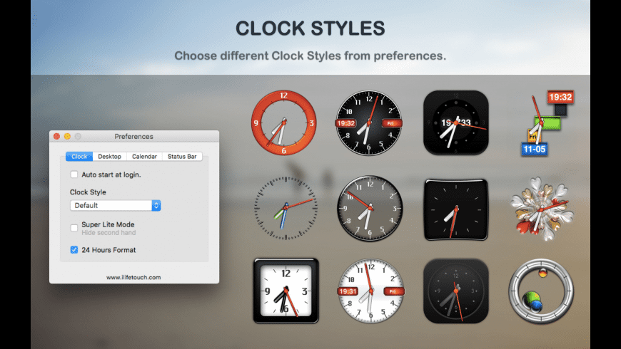 Dock Clock for Mac - review, screenshots