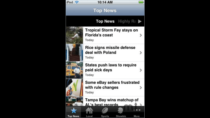 AP Mobile News Network for Mac - review, screenshots