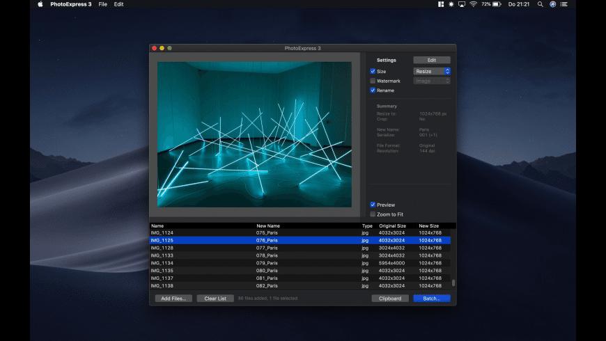 PhotoExpress for Mac - review, screenshots