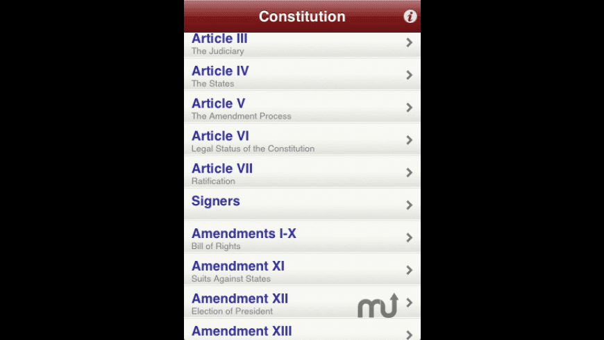 Constitution for iPhone and iPod Touch for Mac - review, screenshots
