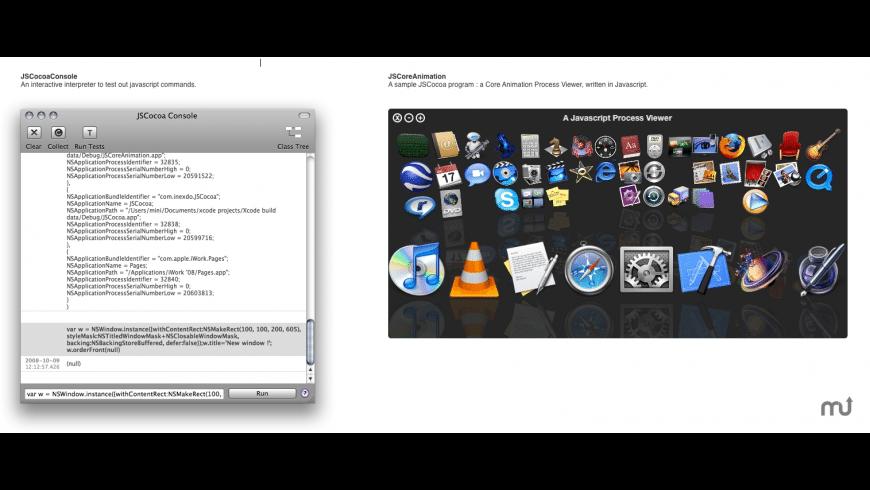 JSCocoa for Mac - review, screenshots