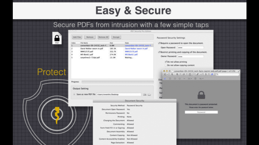 PDF Security Pro Edition for Mac - review, screenshots