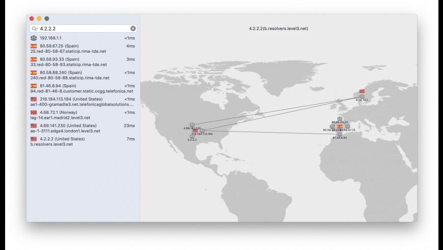 IPTrace for Mac - review, screenshots