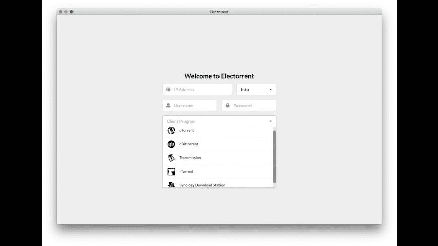 Electorrent for Mac - review, screenshots