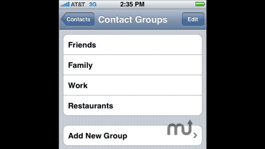 Contact Grouper for Mac - review, screenshots