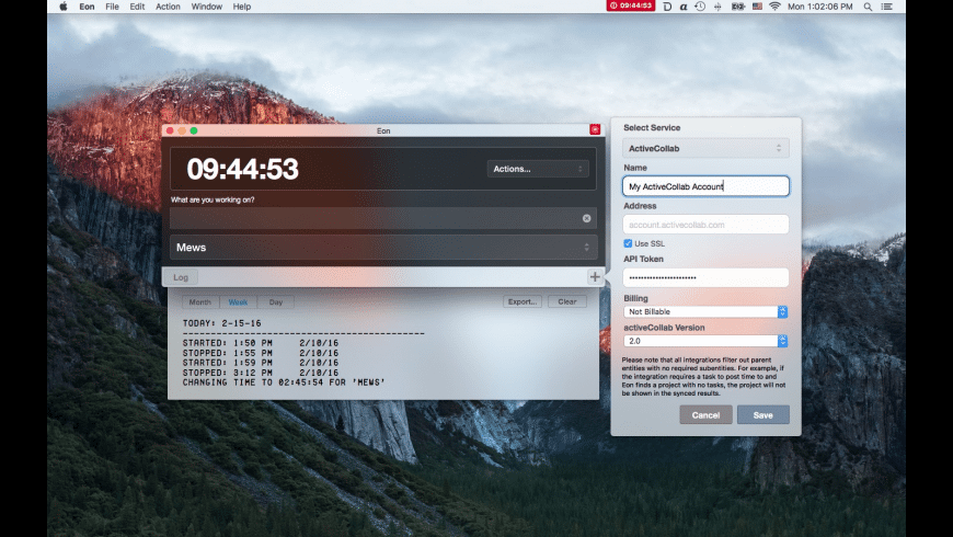 Eon Timer for Mac - review, screenshots