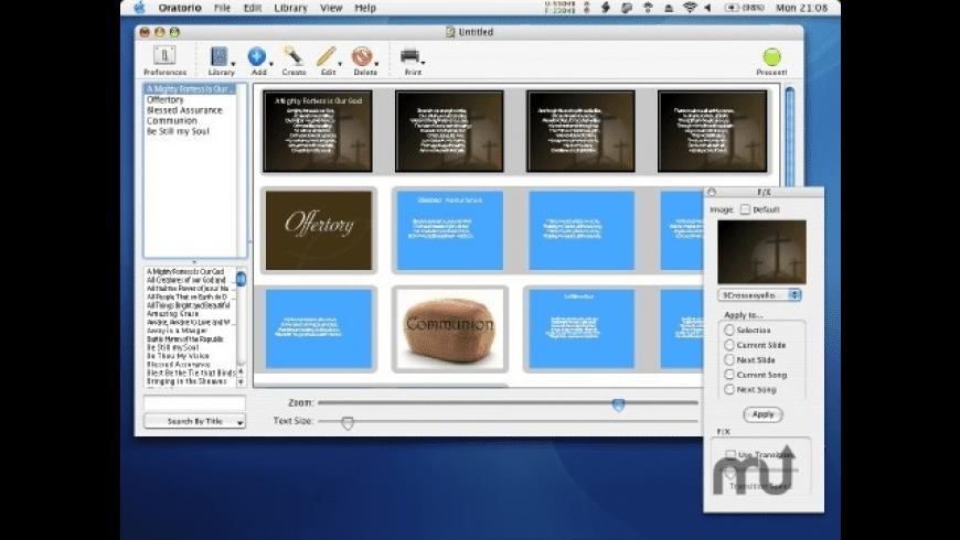 Oratorio X for Mac - review, screenshots