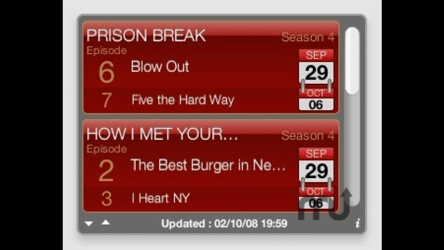 TV Show Tracker for Mac - review, screenshots