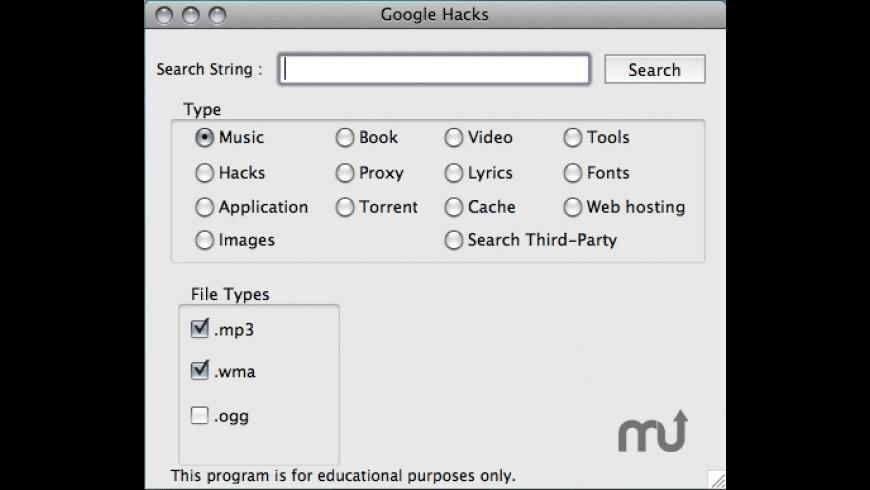 Google Hacks for Mac - review, screenshots