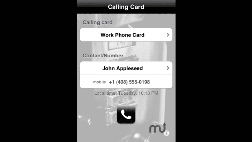 Calling Card for Mac - review, screenshots