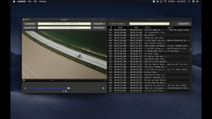 SubShift for Mac - review, screenshots
