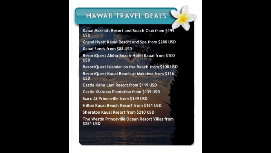 Hawaii Hotel Deals for Mac - review, screenshots