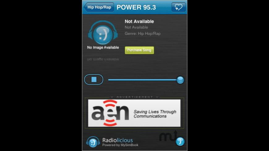Radiolicious for Mac - review, screenshots