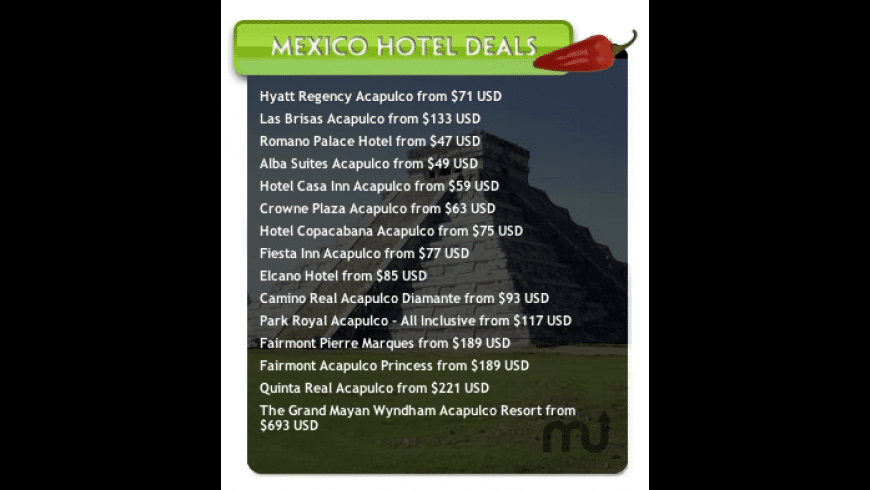 Mexico Hotel Deals for Mac - review, screenshots