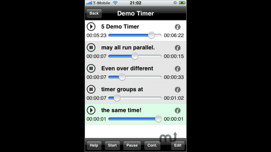 Parallel Timer for Mac - review, screenshots