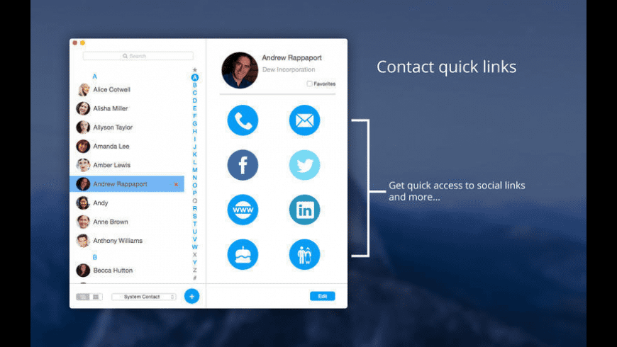 Contact Book Pro for Mac - review, screenshots