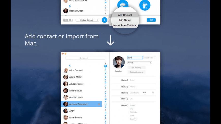 Contact Book Pro for Mac - review, screenshots