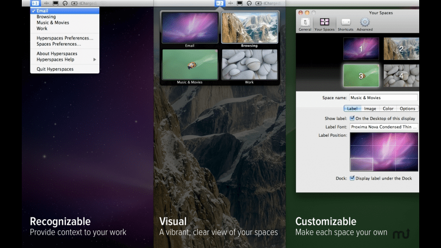 Hyperspaces for Mac - review, screenshots